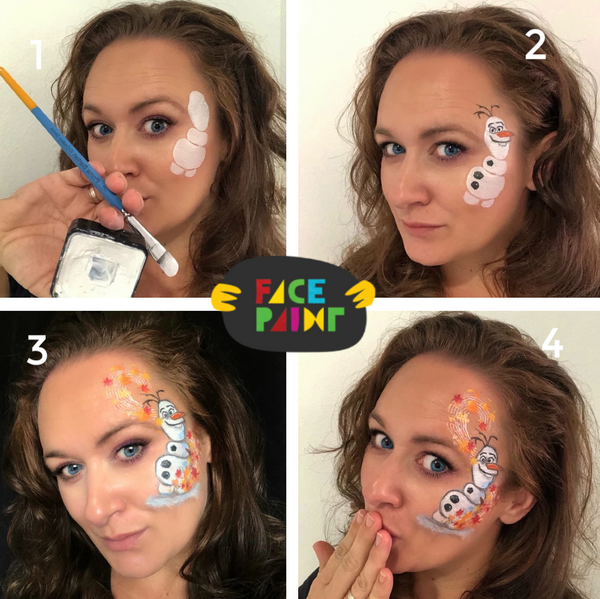 Olaf Face Paint Design