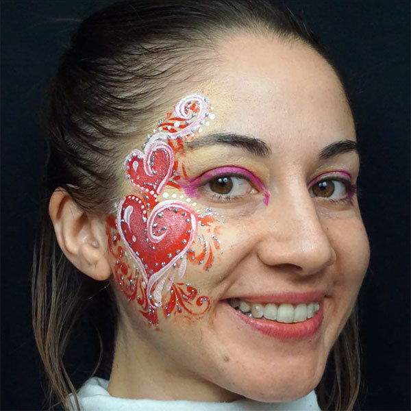 Ornate Heart Cheek Face Paint by Alfia