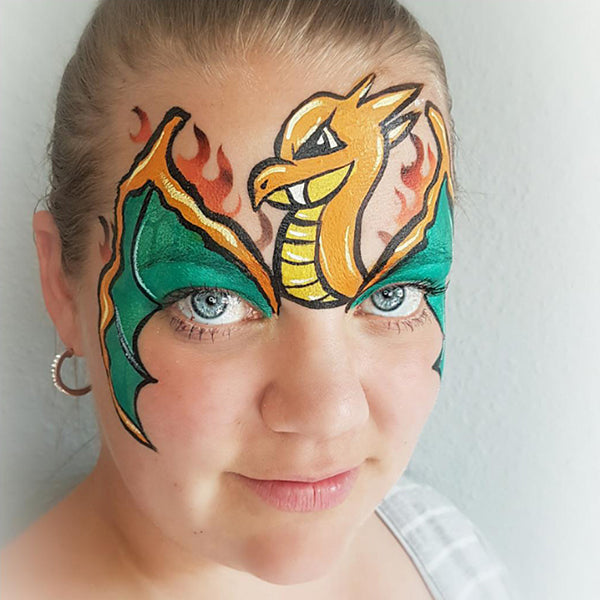 "Pokémon ""Charizard"" Face Paint by Linnéa Önnerby Novak"