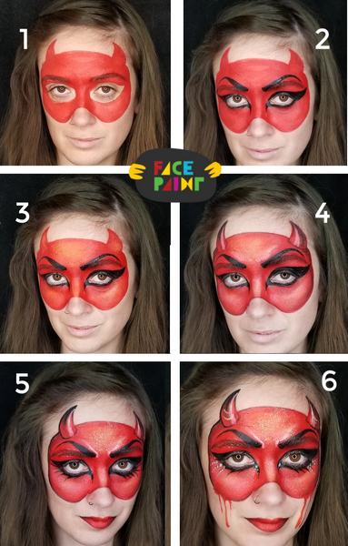She Devil Face Paint Design