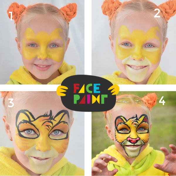 How to Paint a Lion Face on a Kid