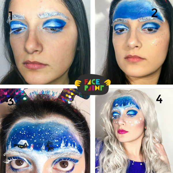 Snow Globe Face Paint Design