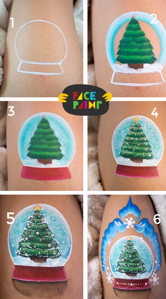 Snowglobe Face Paint Design