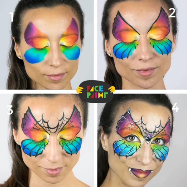 Spider Butterfly Face Paint Design