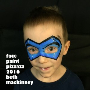 Superhero Face Paint