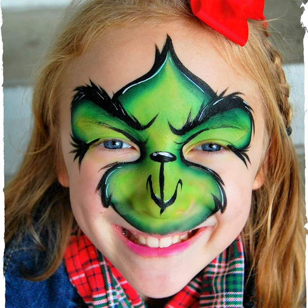 The Grinch Face Paint