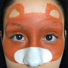 Tiger Face Paint Step 1