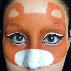 Tiger Face Paint Step 3