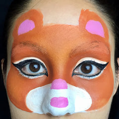 Tiger Face Paint Step 4
