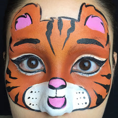 Tiger Face Paint Step 5