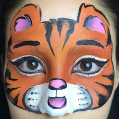 Tiger Face Paint Step 6