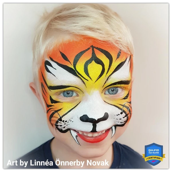 Tiger Face Paint Design