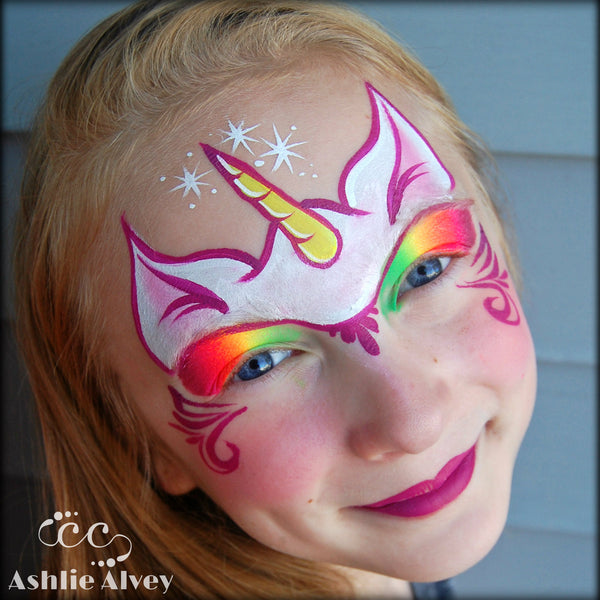 the gallery for gt simple unicorn face paint