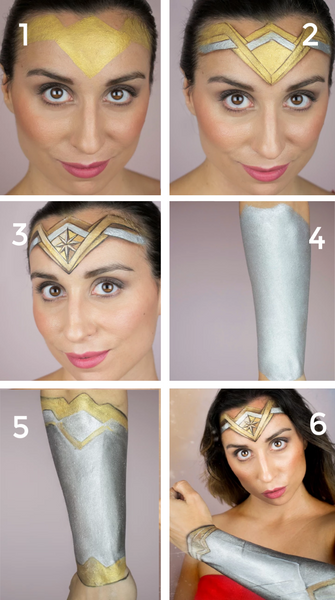 Woner Woman Face Paint Tutorial