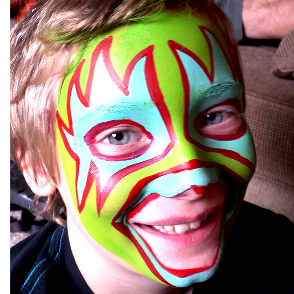 Wrestling Mask Face Paint