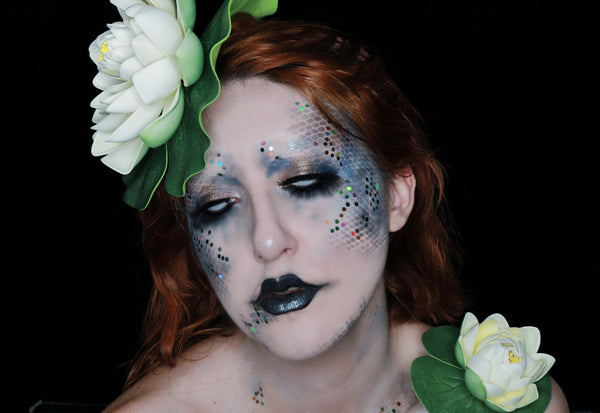 Lake Mermaid Face Paint Design