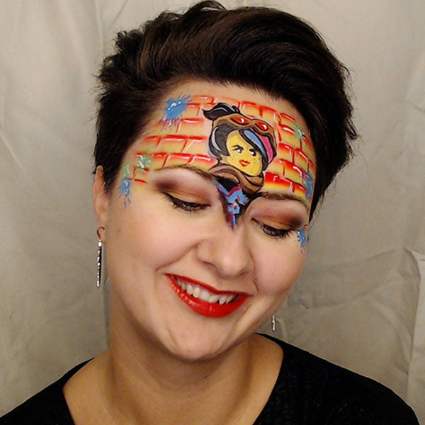 Lego Face Paint Video Tutorial - Lucy (Graffiti Girl) by Helene
