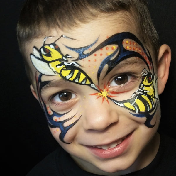 Tribal Bumble Bee Attack By Melissa Perez – Facepaint com