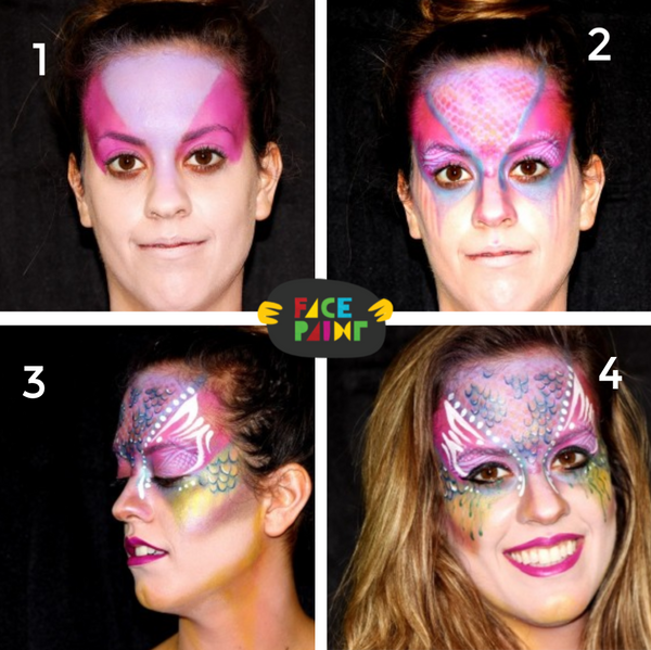 Mermaid Face Paint Design