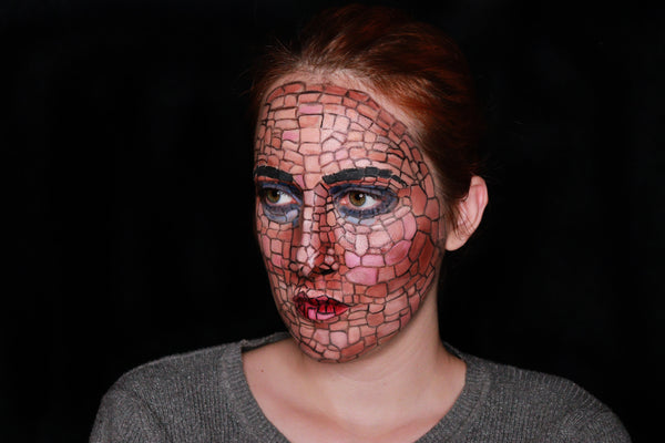 Mosaic Face Paint Design