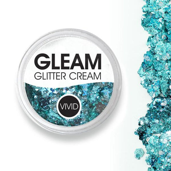 VIVID Gleam Chunky Glitter Cream - Angelic Ice