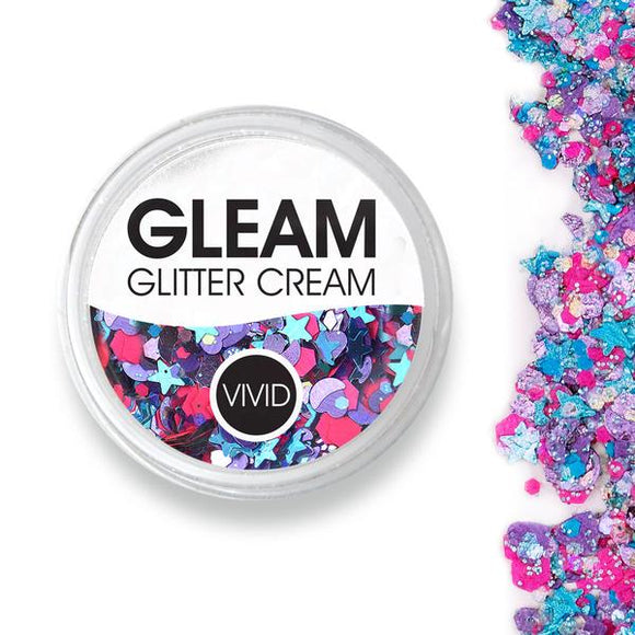 VIVID Gleam Chunky Glitter Cream - Blazin Unicorn