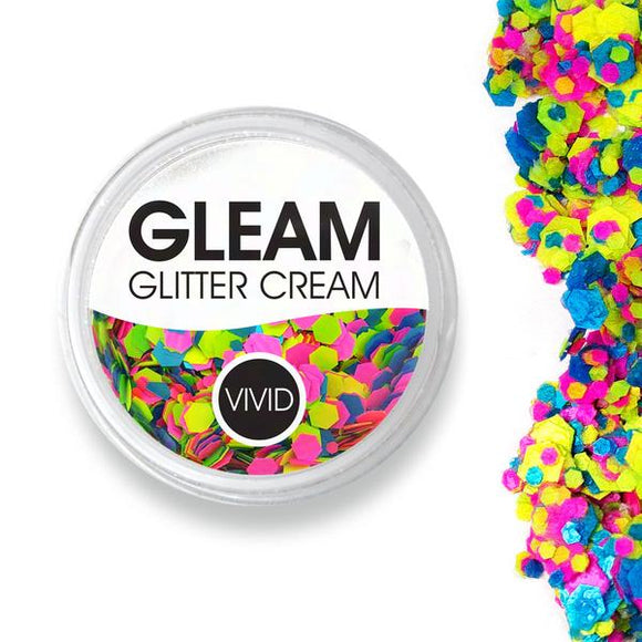 VIVID Gleam Chunky Glitter Cream - Candy Cosmos UV