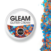 VIVID Gleam Chunky Glitter Cream - Dominance - Orange & Blue (10 gm)