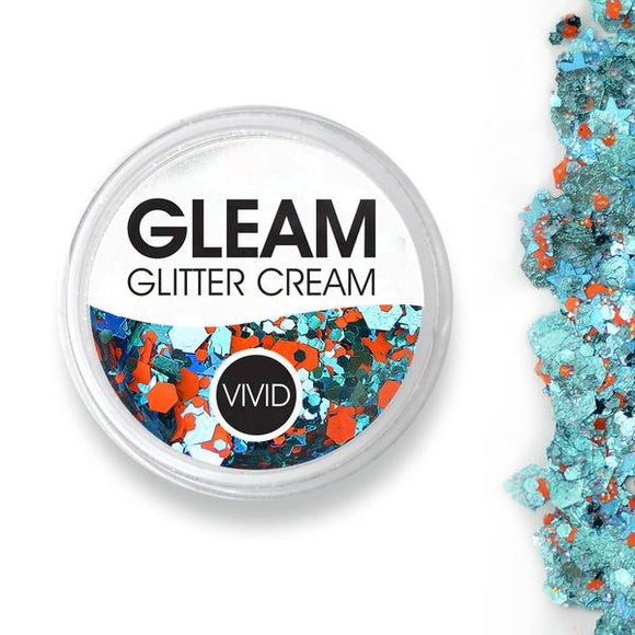 VIVID Gleam Chunky Glitter Cream - Energy - Orange & Aqua