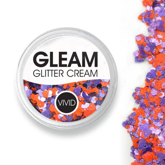 VIVID Gleam Chunky Glitter Cream - Fearless - Purple & Orange (10 gm)