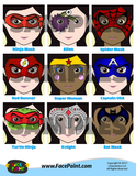 Colorful Face Painting Designs Menu - Girls