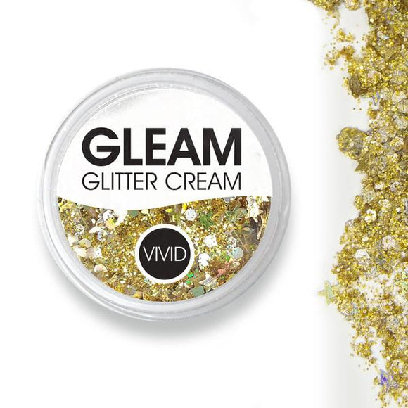 VIVID Gleam Chunky Glitter Cream - Gold Dust (10 gm)