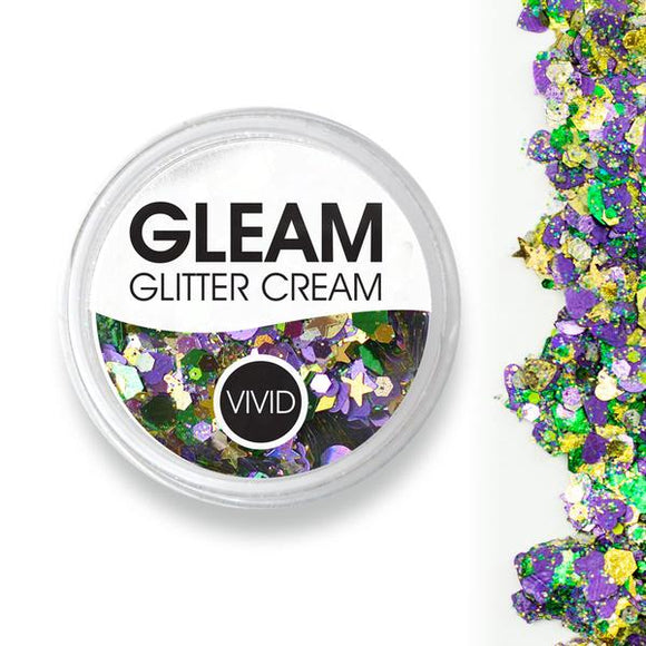 VIVID Gleam Chunky Glitter Cream - Mardi Party (10 gm)