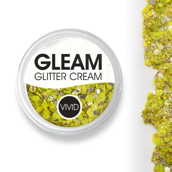 VIVID Gleam Chunky Glitter Cream - Pineapple (10 gm)