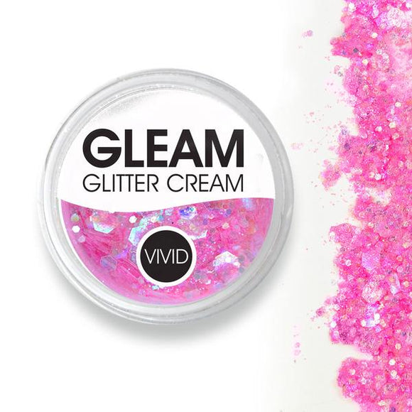 VIVID Gleam Chunky Glitter Cream - Princess Pink (10 gm)