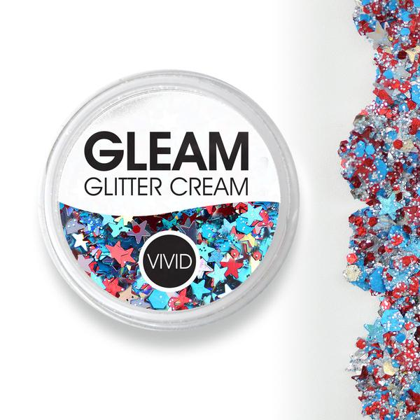 VIVID Gleam Chunky Glitter Cream - Red, White & Boom