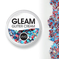 VIVID Gleam Chunky Glitter Cream - Red, White & Boom (10 gm)
