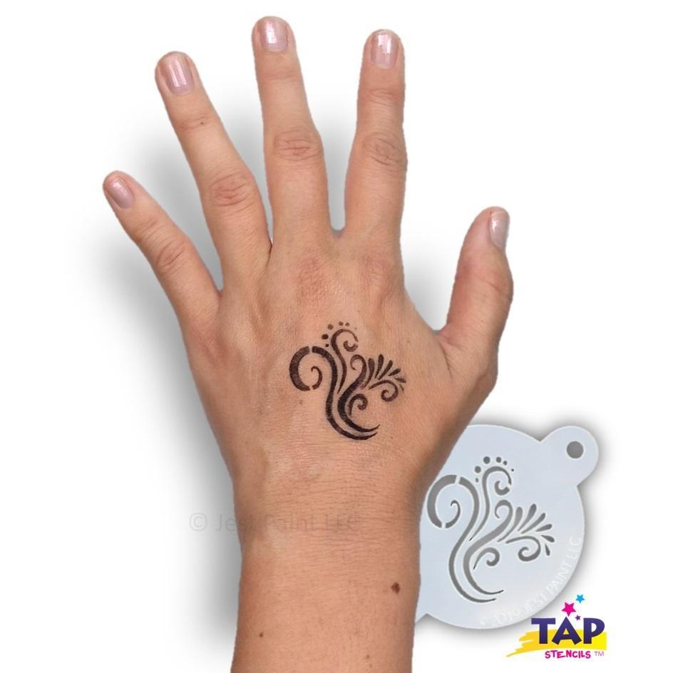 TAP Face Painting Stencil - Swirly Detail (099)