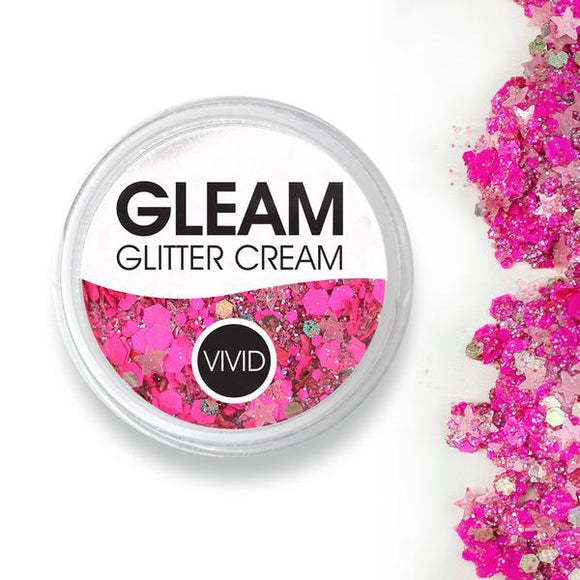 VIVID Gleam Chunky Glitter Cream - Watermelon (10 gm)