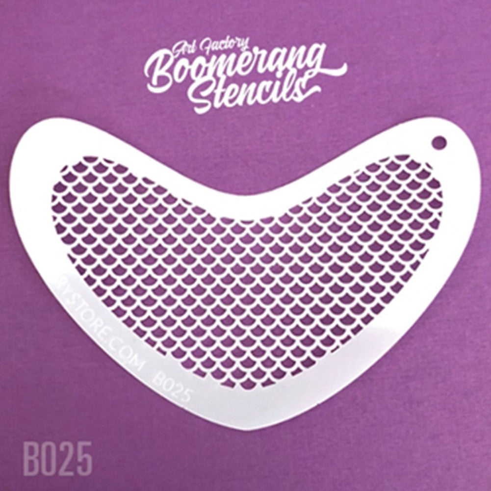 Art Factory Boomerang Stencil - Small Scales (B025)