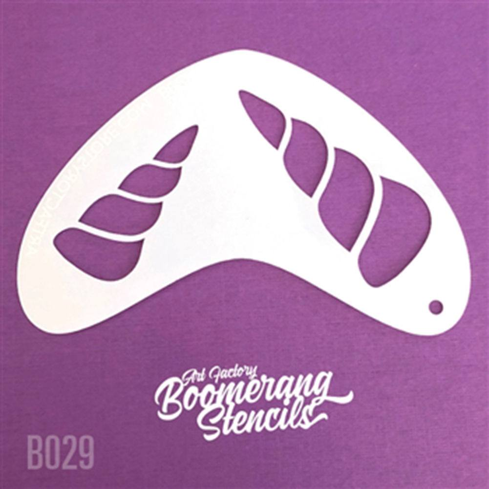 Art Factory Boomerang Stencil - Unicorn (B029)