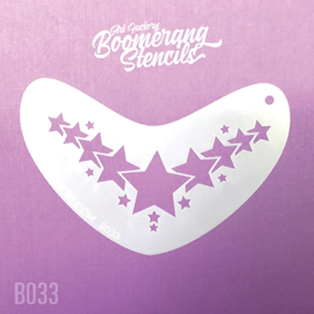 Art Factory Boomerang Stencil - Star Crown (B033)