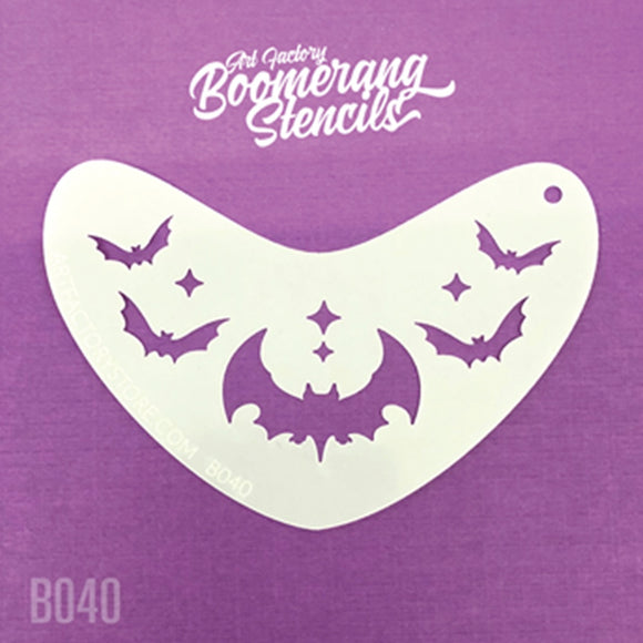 Art Factory Boomerang Stencil - Bat Crown (B040)