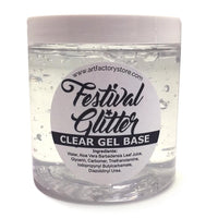 Art Factory Festival Glitter Clear Gel Base