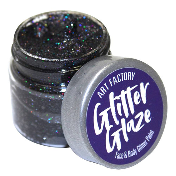 Art Factory Glitter Glaze -  Black (1 oz)