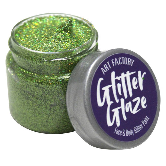 Art Factory Glitter Glaze -  Green (1 oz)