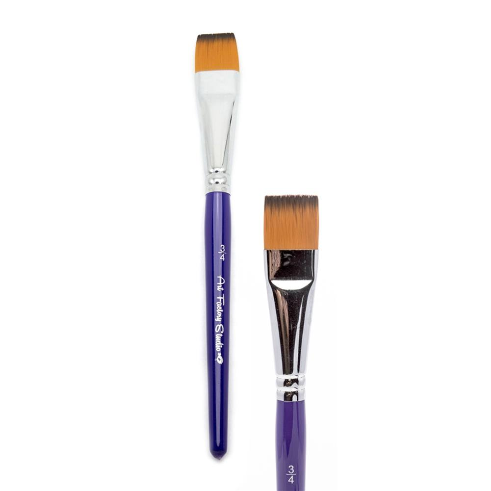 "Art Factory Studio Brush - Flat (3/4"")"