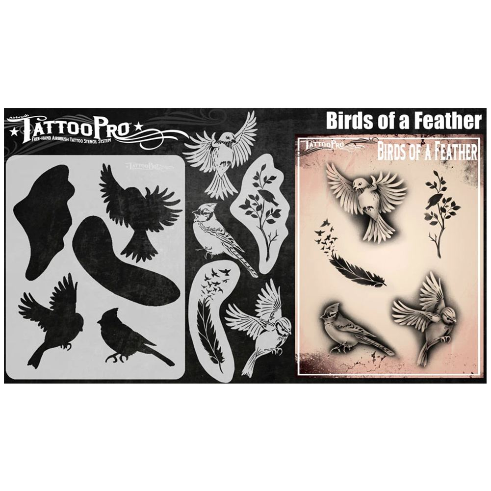Tattoo Pro Stencils - Birds of a Feather