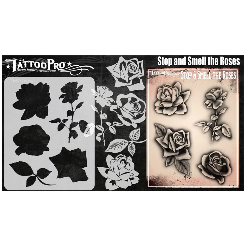 Stop And Smell The Roses Stencil Tattoo Pro Stencils Facepaint Com See more ideas about tattoo stencils, art tattoo, tattoo designs. tattoo pro stencils stop and smell the roses