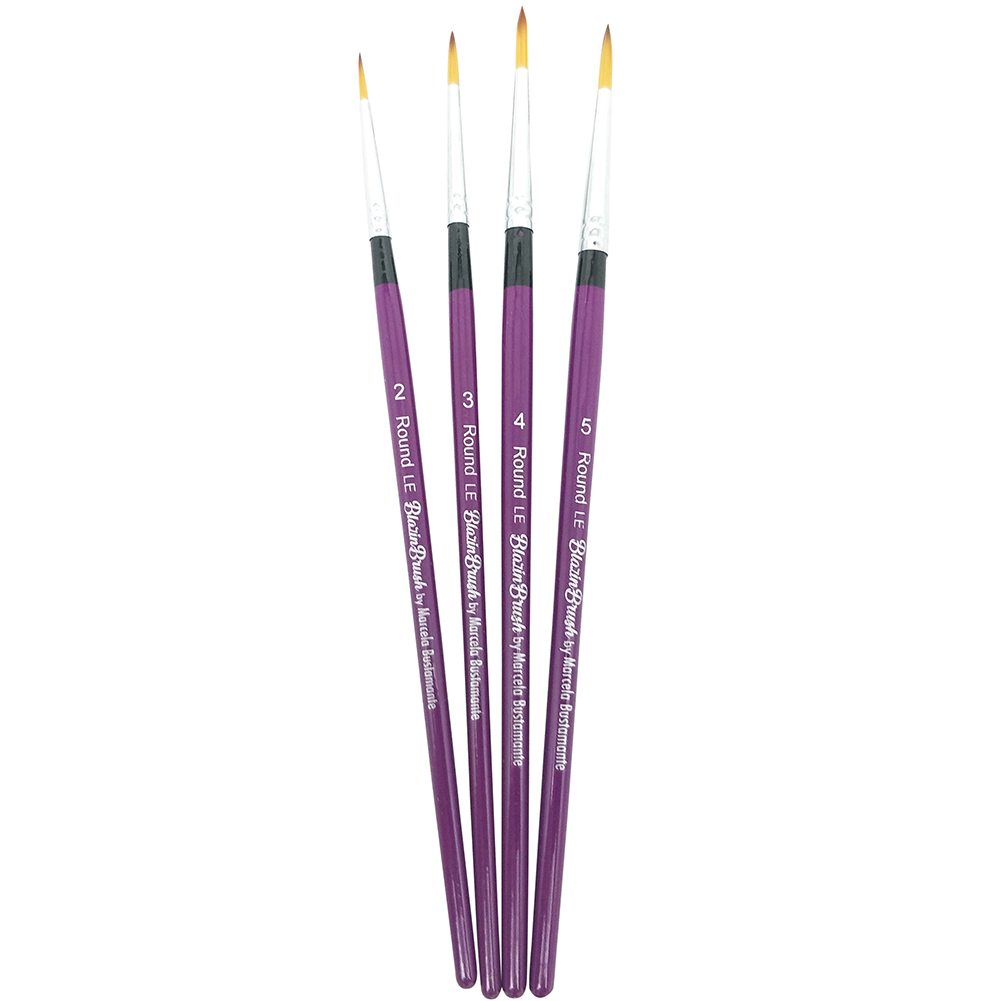 Limited Edition Blazin Brush Set by Marcela Bustamante - (Round 2, 3, 4, 5)